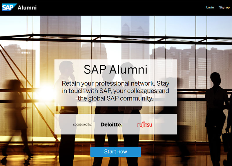 SAP alumni screenshot